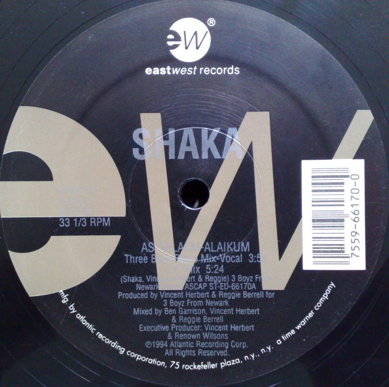 SHAKA - As-Salaam-Alaikum - 12 inch 33 rpm