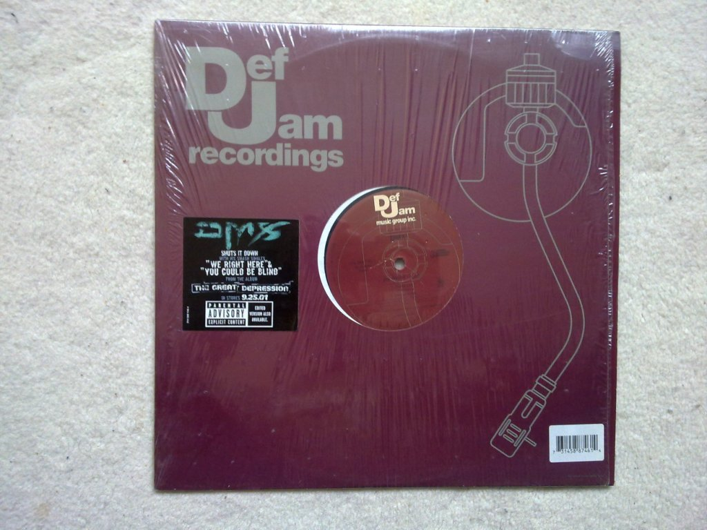 DMX - WE RIGHT HERE / YOU COULD BE BLIND - 12 inch 33 rpm